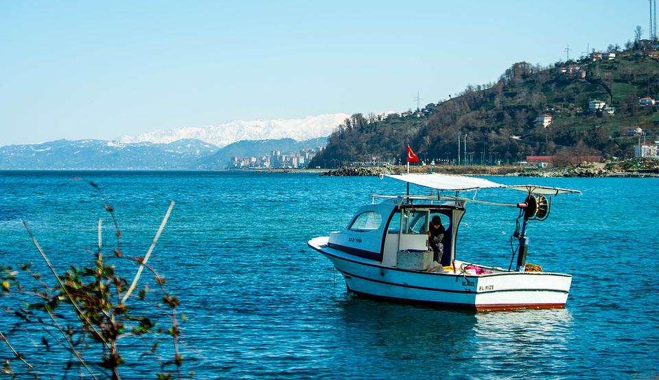 Ship, Boat, Fisherman, Marine, Blue, Rize, Landscape