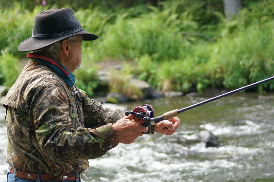 Fisherman, River, Fishing, Stream, Alaska, Alaskan