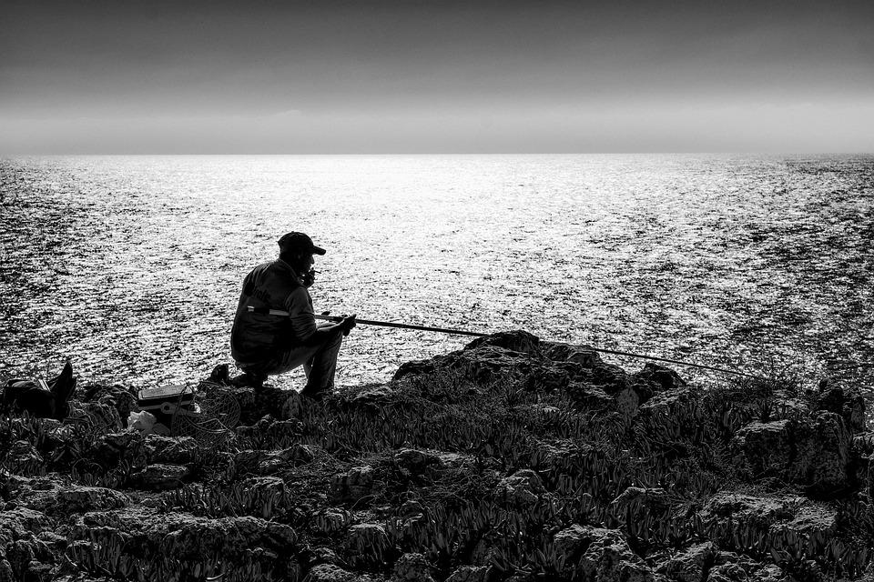 Angler, Fisherman, Sea, Water, Nature, Fishing
