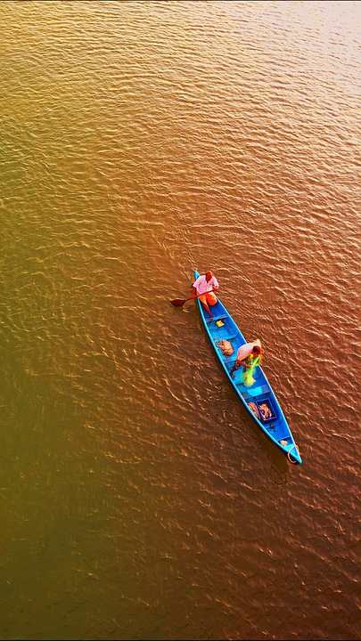 Nature, Fisherman, Water, Boat, Canoe