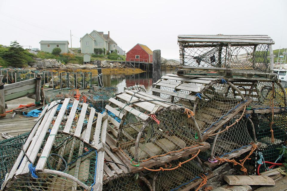 Peggy's Cove, Lobster Traps, Wharf, Fishery