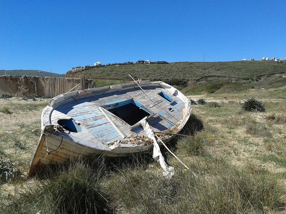 Greek Islands, Andros, Fishing Boat, Beach, Rowing Boat
