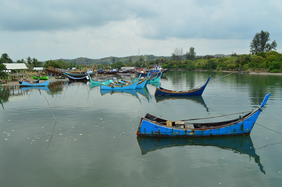 Fishing Boats, River, Asian, Rowboats, Boats, Skiffs