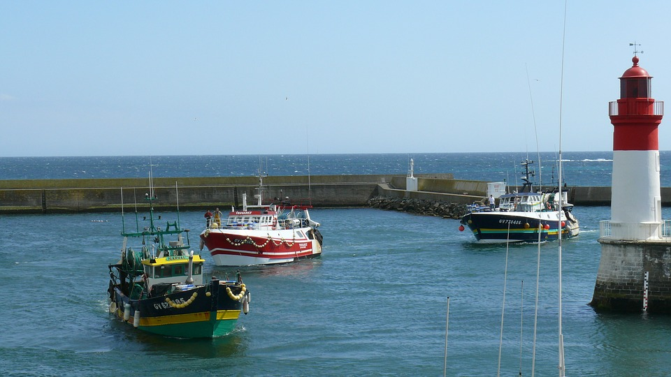 Fishing Boats, Guilvinec, Brittany, Sea