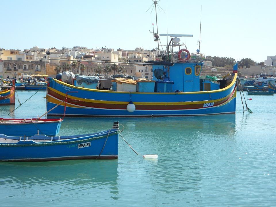 Marsaxlokk, Port, Malta, Boats, Fishing Boats, Fishing