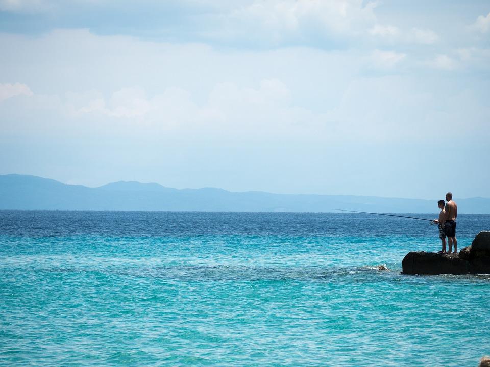 Sea, Fishing, Coast, Fisherman, Blue, In The Summer Of