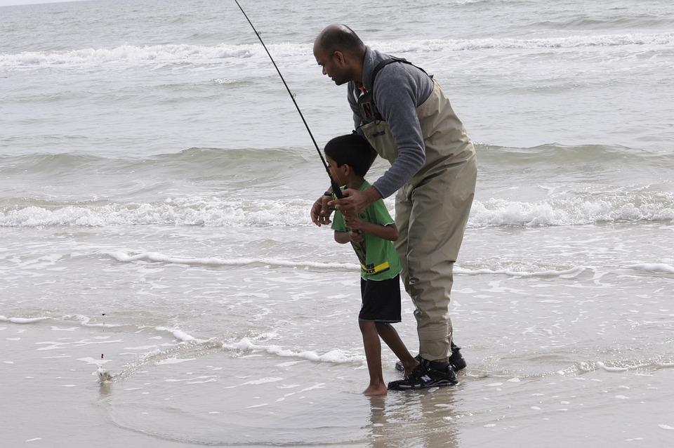 Family Fun, Fishing, Fisherman, Father Son, Ocean