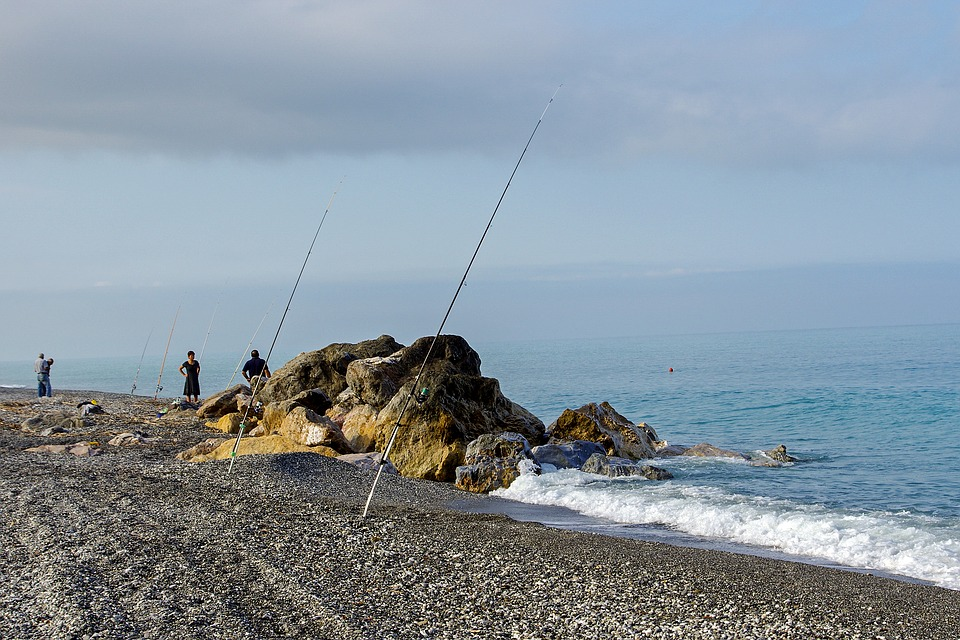 Sea, Scoglio, Fishing, Fishermen, Beach, Fishing Rods