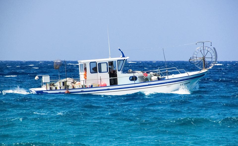 Fishing Boat, Sea, Fishing, Mediterranean, Cyprus