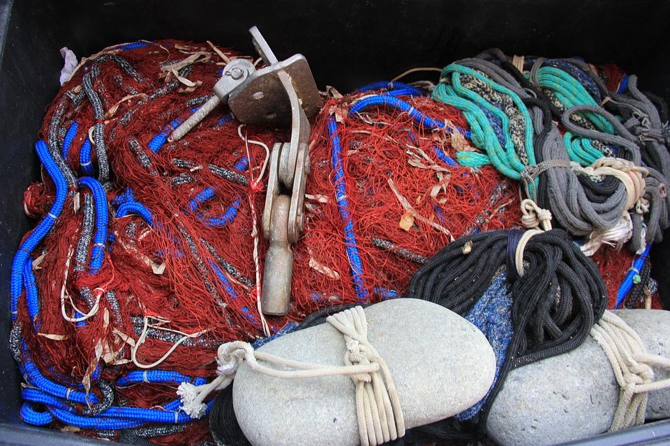 Fisherman's Net, Gravel, Fishing, Fishing Nets, Bob