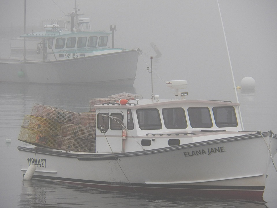 Lobster Boat, Boats, Lobsters, Traps, Pots, Fishing