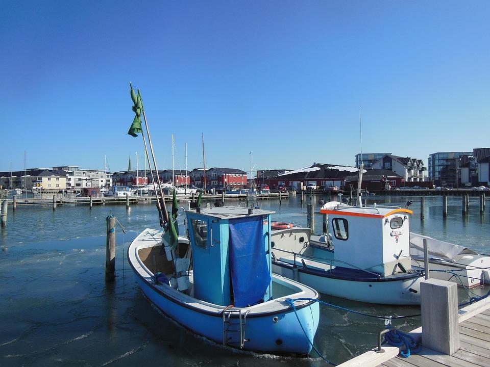Port, Marina, Harbor, Fishing Boats, Fishing, Blue