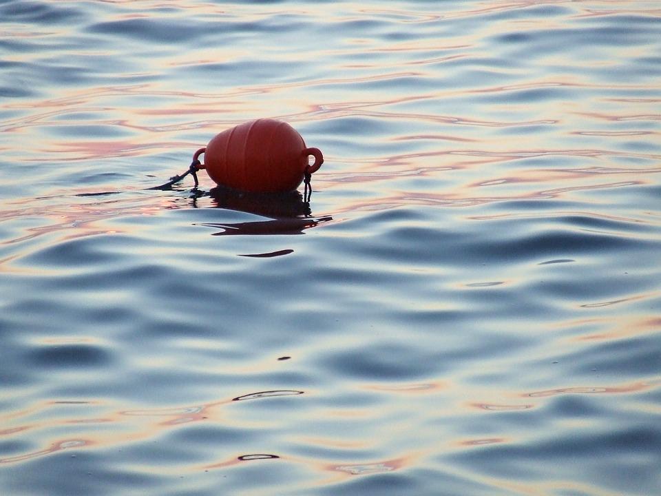 Fishing, Buoy, Sunset, Water, Orange, Float, Marine