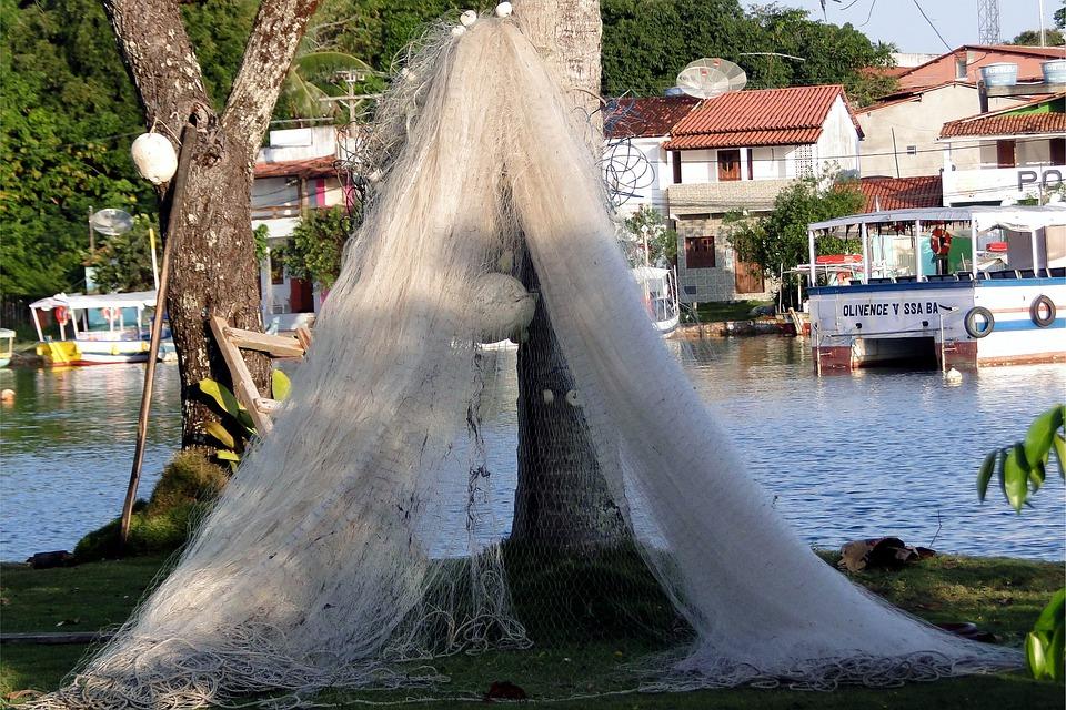 Fishing Net Fishermen Island Fish Tropical