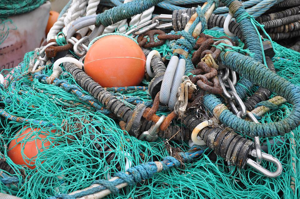Fishing Nets, Networks, Fishing, Sea, Port, Safety Net