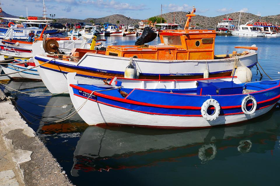 Greece, Greek Port, Fishing Port, Fishing