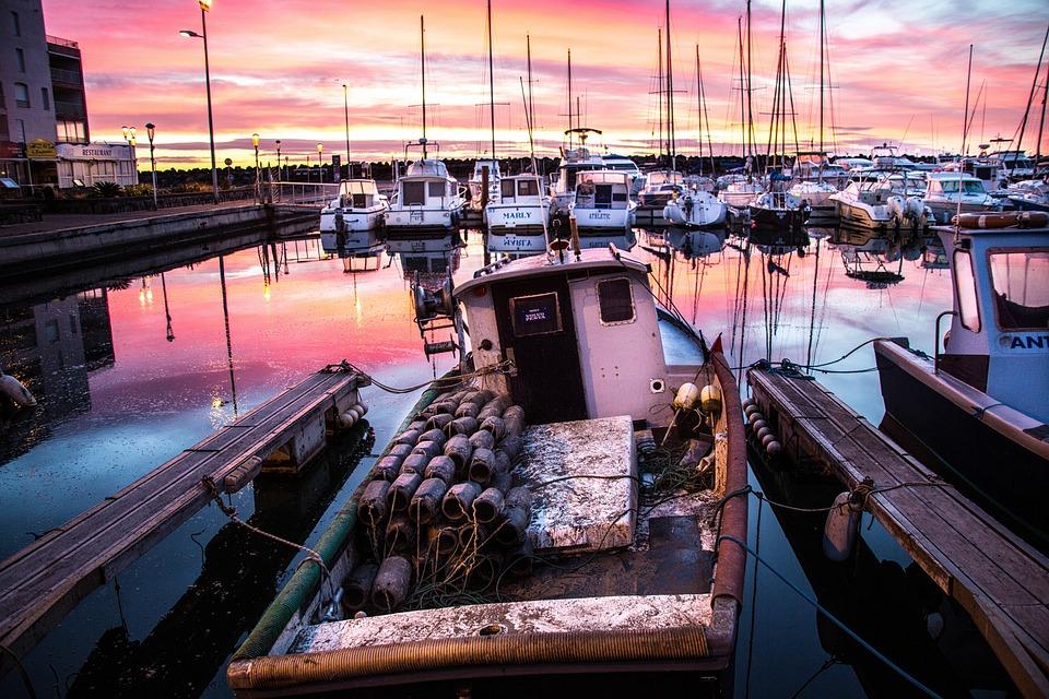 Fishing, Port, Fishing Port, Fishing Boats, Sunrise