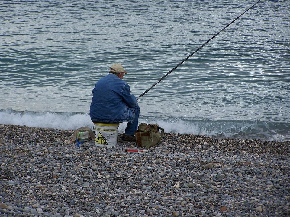 Body Of Water, Fisherman, Rod, Fishing Rod