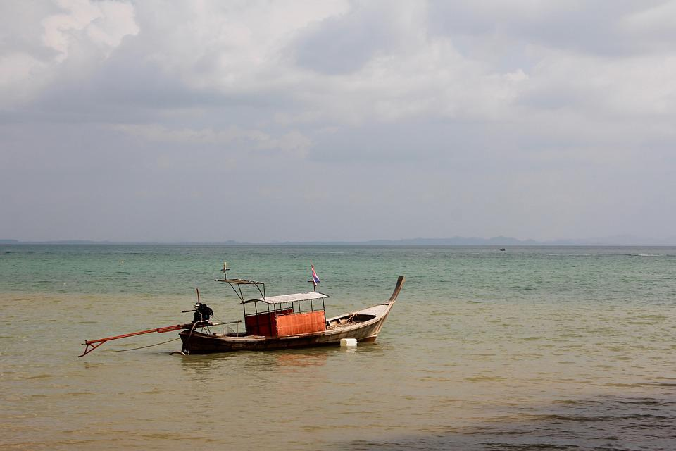 Boot, Lake, Ocean, Water, Fish, Ship, Thailand, Fishing