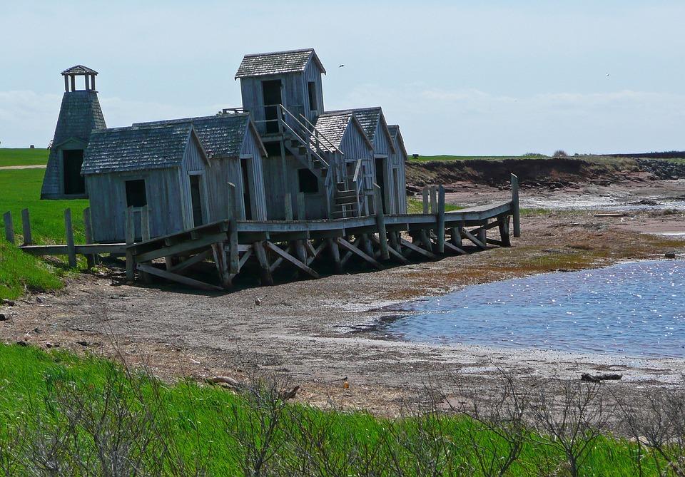 Fisher Huts, Old, Shoreline, Heritage, Beach, Fishing
