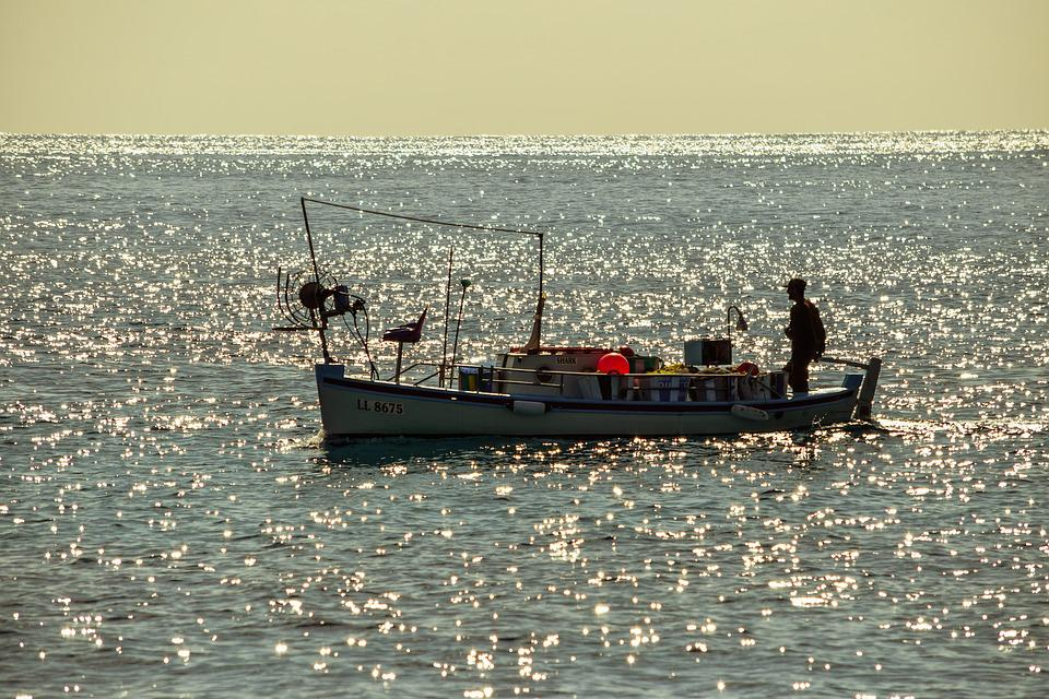 Fishing Boat, Sea, Afternoon, Fishing Time, Cyprus
