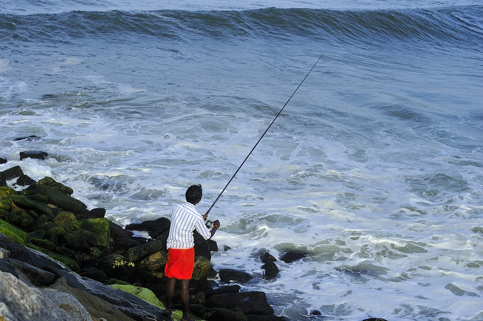 Fishing, Perumathura Beach, Trivandrum