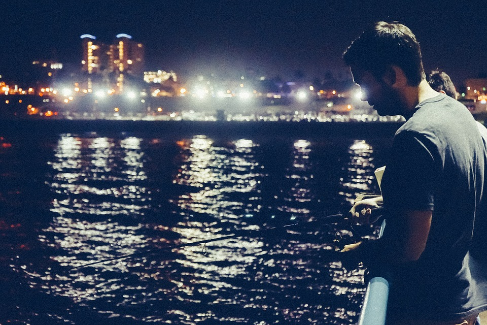 City, People, Urban, Ocean, Bay, Sea, Relax, Fishing