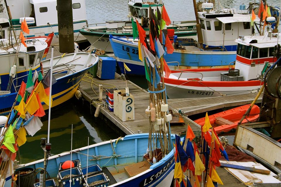 Fishing Vessel, Sea, Atlantic, Port, France