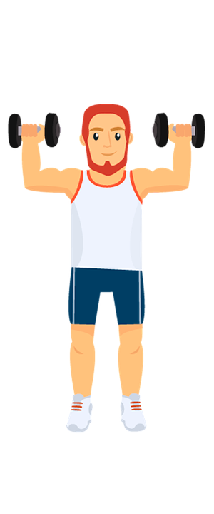 Fitness, Sport, Athlete, Illustration, Drawing, Weights