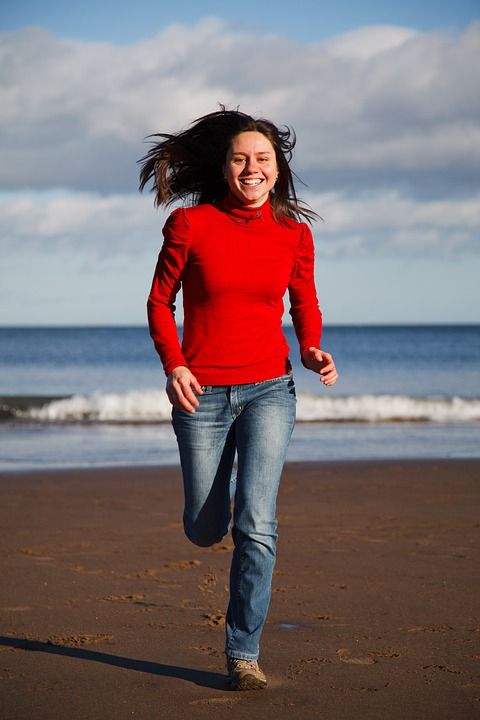 Beach, Female, Fit, Fitness, Fun, Girl, Happy, Health