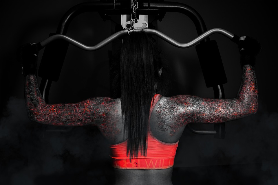 Woman, Sport, Fitness, Muscle, Girl, Strength, Pain