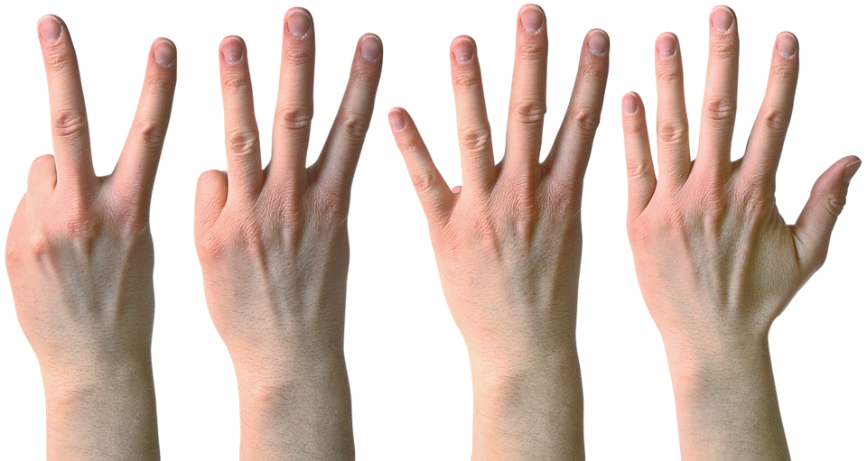 Hand, Fingers, Two, Three, Four, Five, The Gesture
