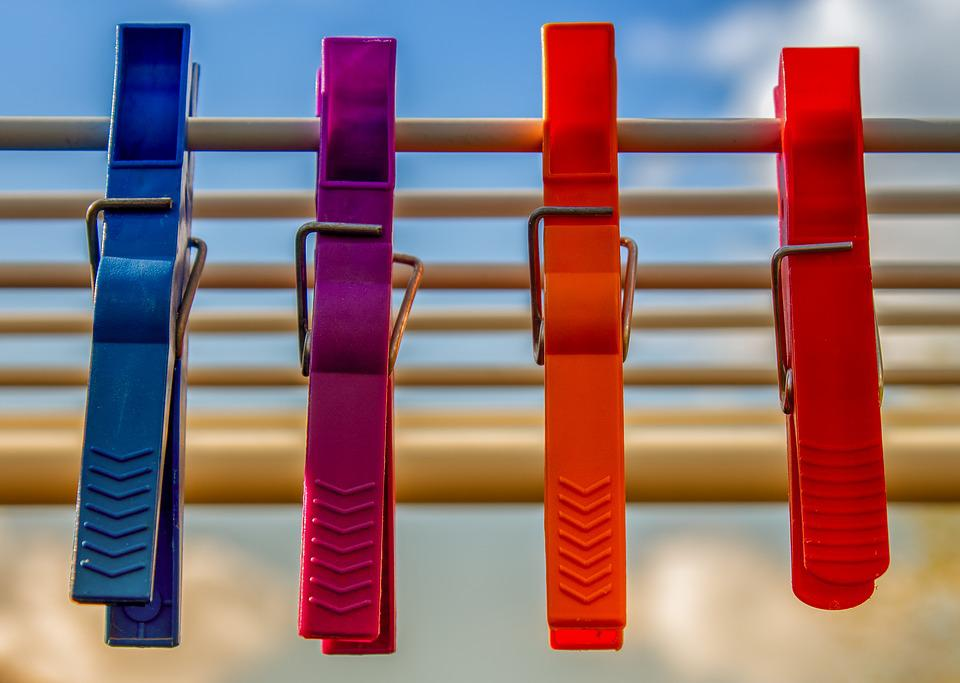 Clothespins, Plastic, Colorful, Color, Fixing, Keep