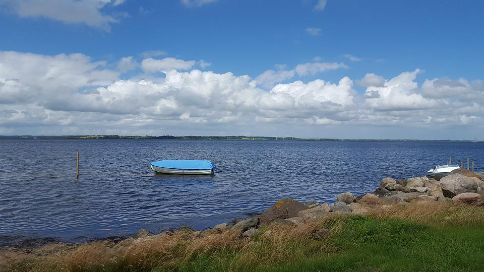 Fjord, Sky, Natural, Coastal, Boat, Beach