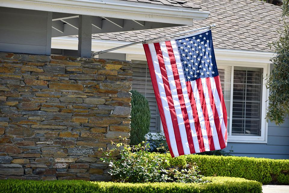 Flag, American, Home, House, Usa, Patriotic, America