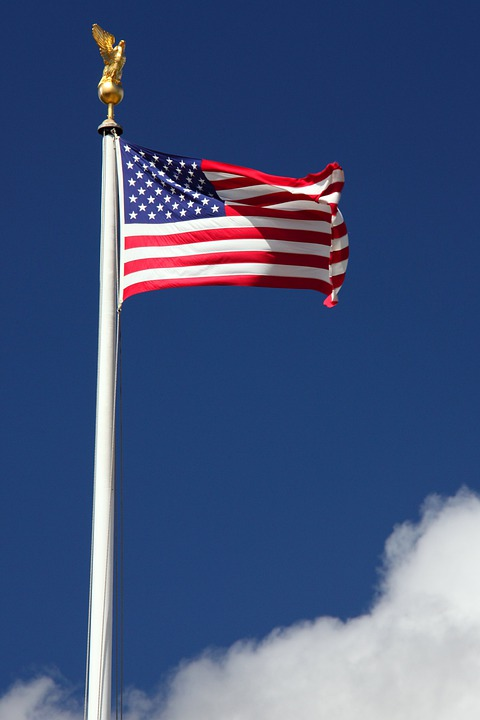 July, America, American, Blue, Country, Flag, Fourth