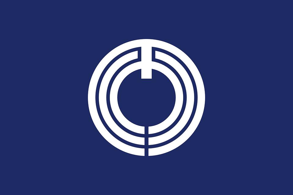 Flag, Japan, Asia, Asian, Circles, Blue Circle
