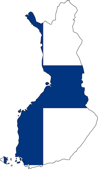 Finland, Map, Flag, Europe, Country