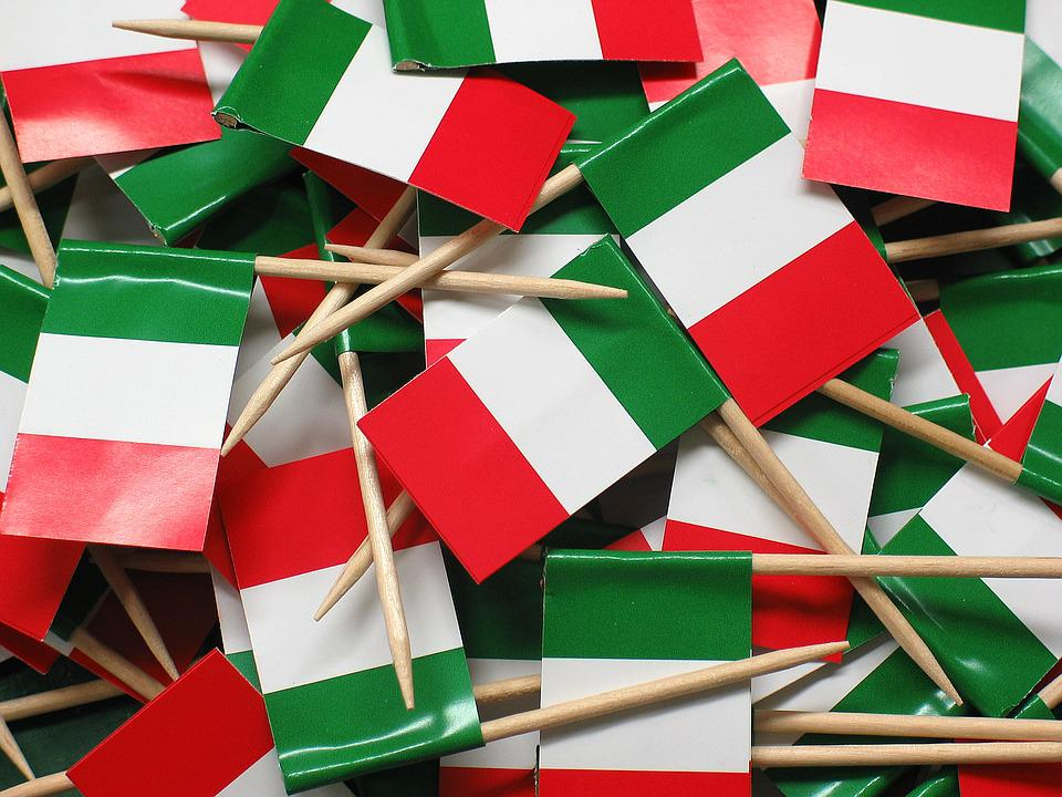 Flag, Italy, Blow, Flags And Pennants, Spit, Paper