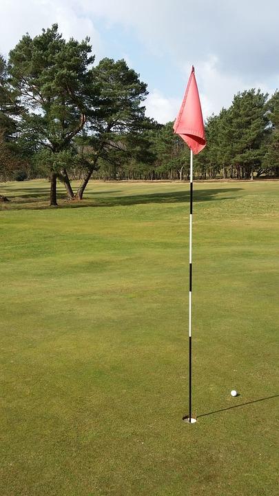 Golf, Flag, Ball, Green, Grass, Course, Fairway, Hole