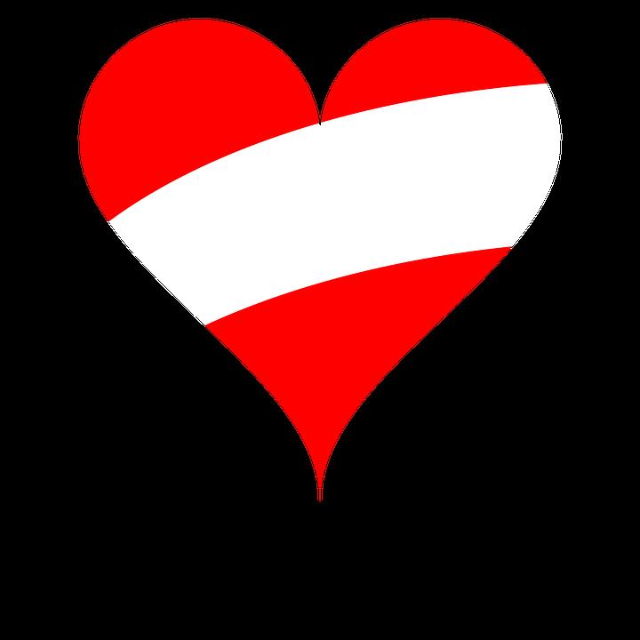 Heart, Love, Flag, Austria
