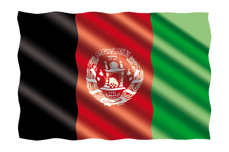 International, Flag, Afghanistan