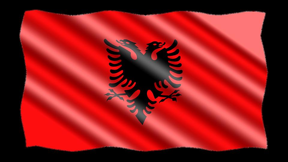 International, Flag, Albania