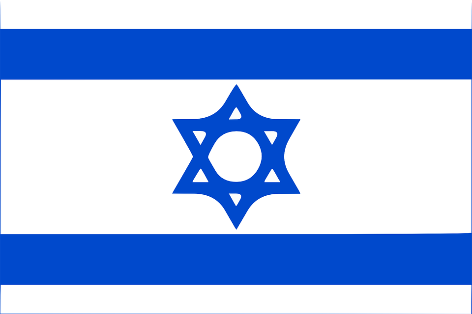 Israel, Flag, Country, Sign, Star, Stripe, Blue, White