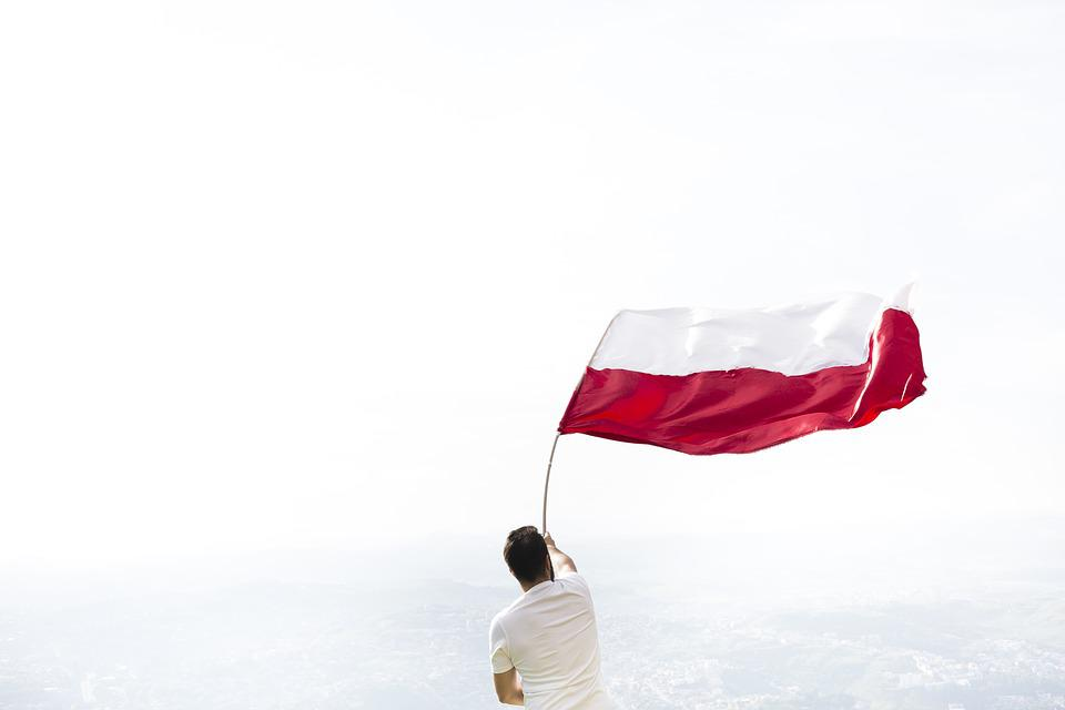 Man, Flag, Home, White, Red, Independence