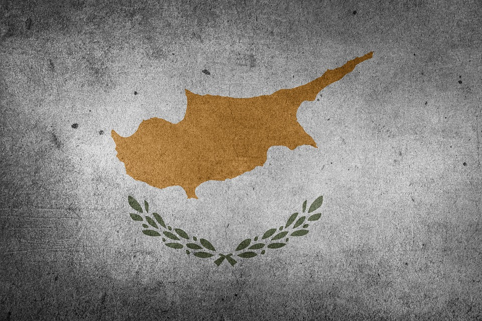 Flag, Cyprus, Europe, Middle East, Mediterranean