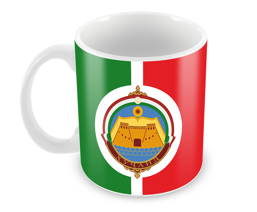 Flag, Mug, Tajikistan, Khujand