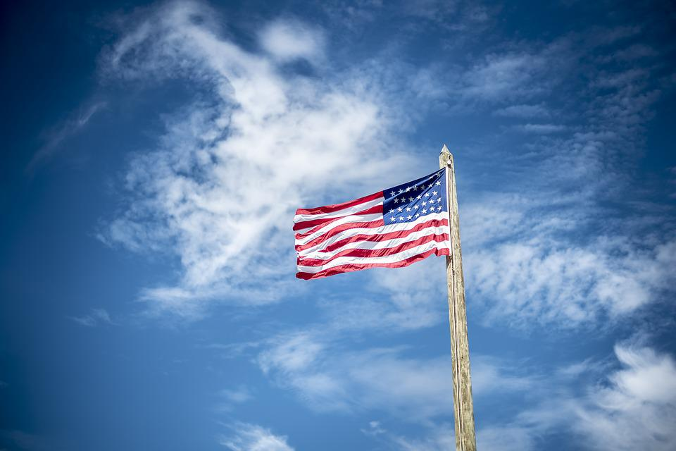 American Flag, Flag, Flagpole, Outdoors, Patriotism
