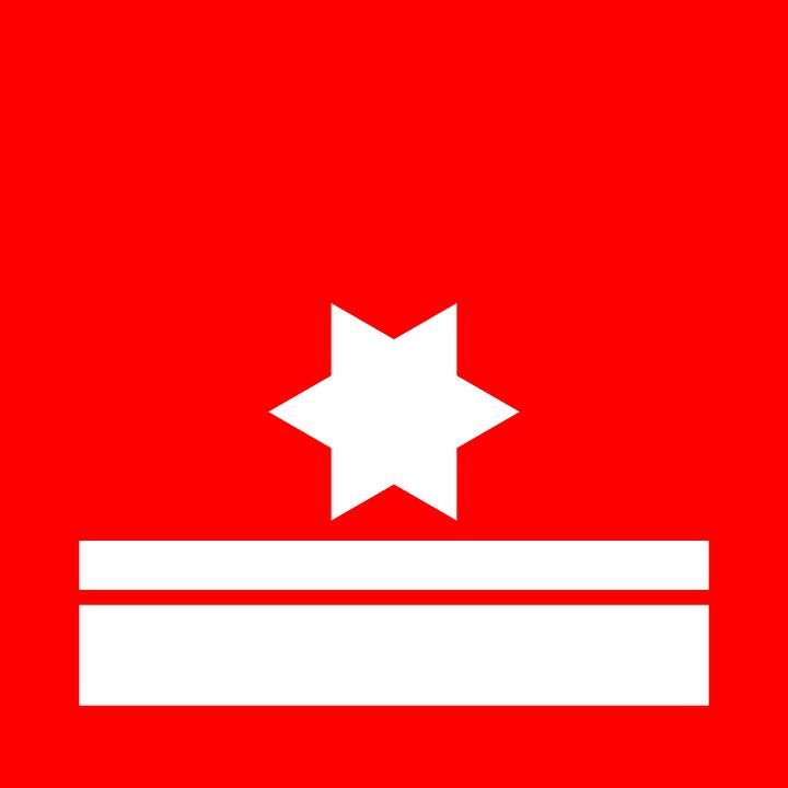 Star, Flag, Red, White, Band, Red Stars