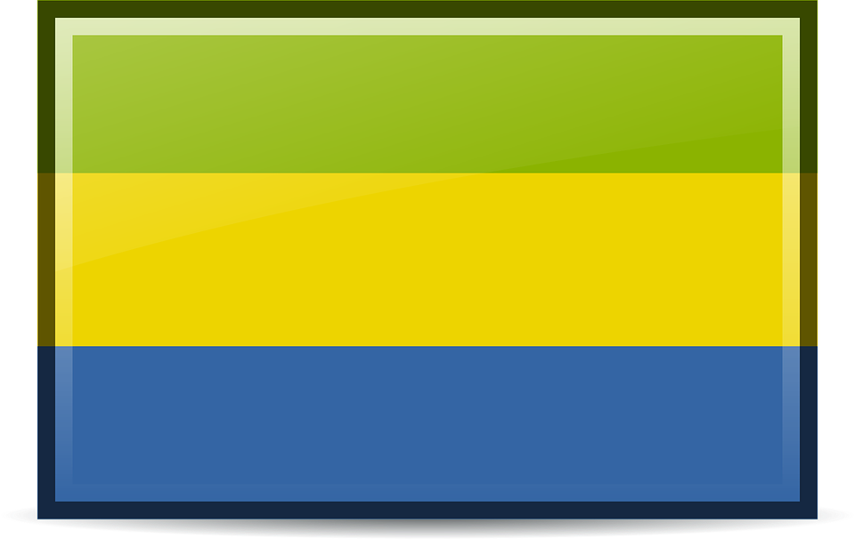 Flag, Gabon, Icons, Rodentia Icons, Symbol, Tricolor